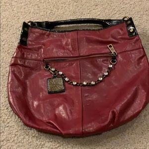 Red Leather Simply Vera Vera Wang purse
